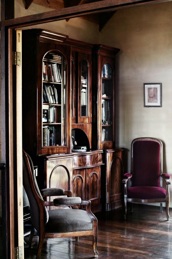wohnung design ideen französischer stil bibliothek
