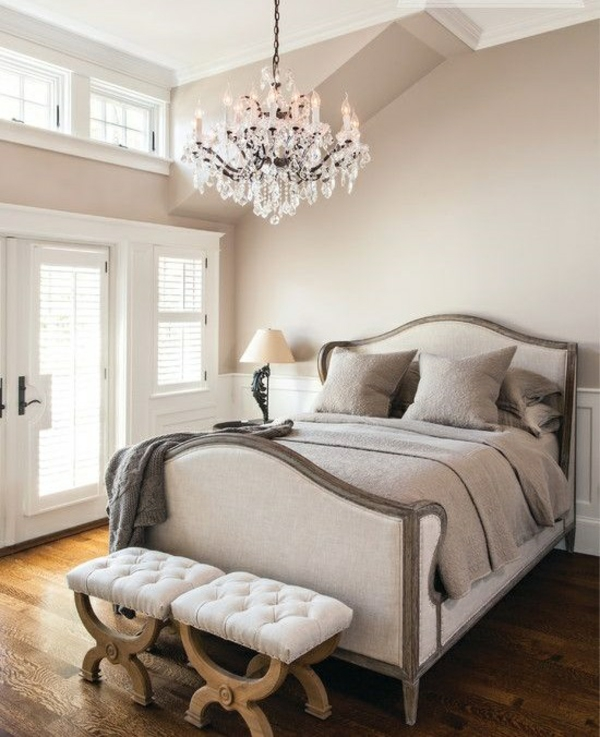wohnung design ideen französischer stil schlafzimmer kronleuchter