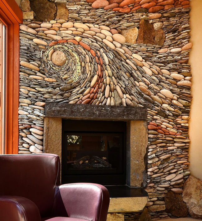 wohnzimmer wand steine:Steinwand als Kunstwerk – was können Künstler aus Steinen erschaffen