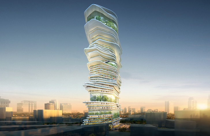 Architektur der zukunft ein projekt mit nachhaltigem design for Architektur moderne