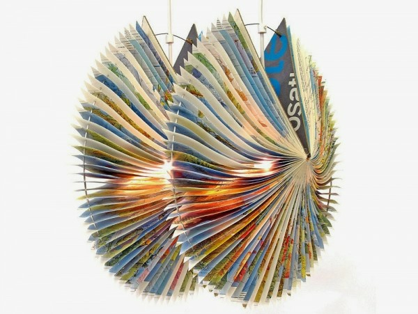 Alte Bücher als Lampenschirme design