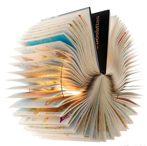 Alte Bücher als Lampenschirme kreativ