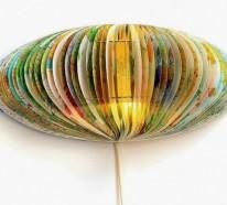 Alte Bücher als Lampenschirme – recycelte Materialien und kreative Designs