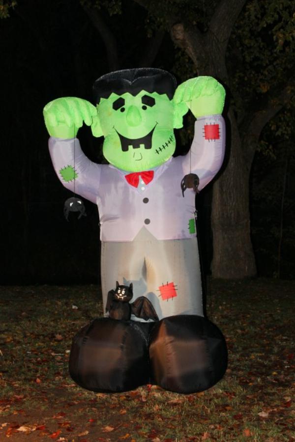 Aufblasbare werbemittel zu Halloween monster grün