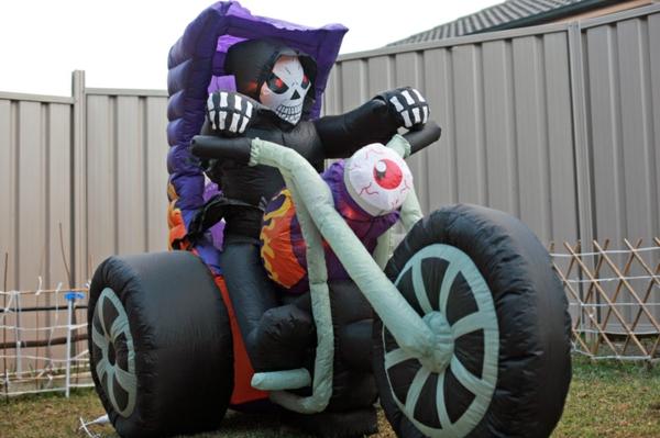 fahrer Werbeartikel zu Halloween motorrad
