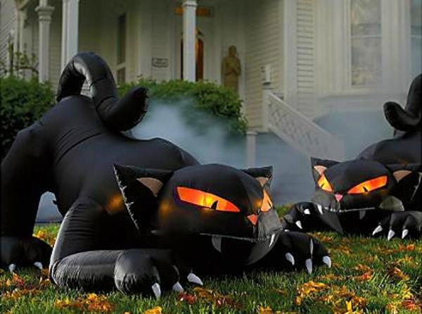 feuer augen Aufblasbare Werbeartikel zu Halloween schwarz
