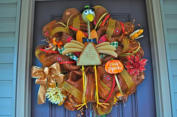 Bastelideen Halloween Türkranz großartig