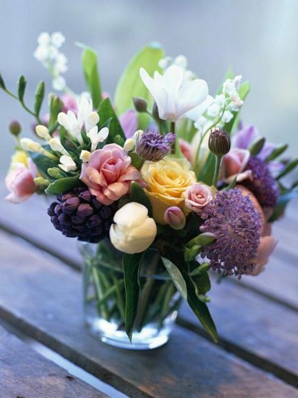 Blumengestecke üppig Blumenstäuße glas blüte