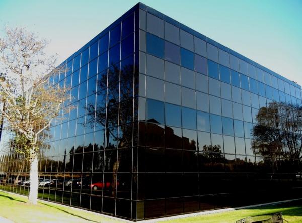 Businessgebäuden mit glasfassaden