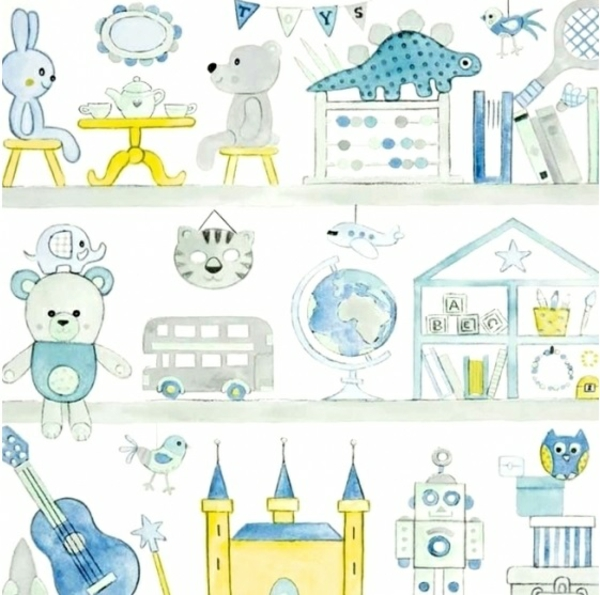 Babyzimmer Wandgestaltung Tapete : Babyzimmer Tapeten schaffen eine fr?hliche Stimmumg im Raum