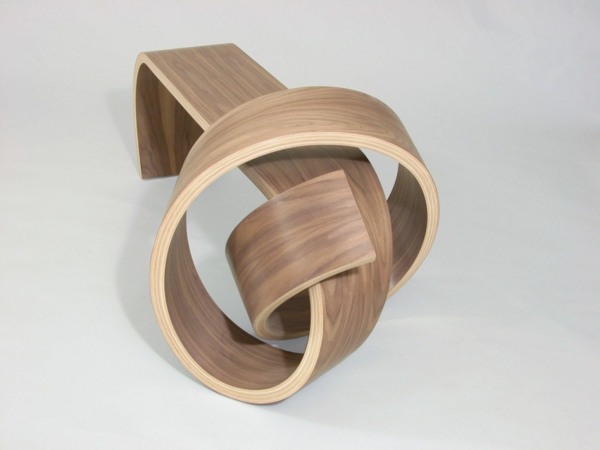 Designermöbel holz  Coole Designermöbel aus Holz binden einen Knoten mit Stil