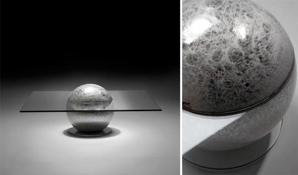 Designer glas Tische couchtische esstische beton kugel