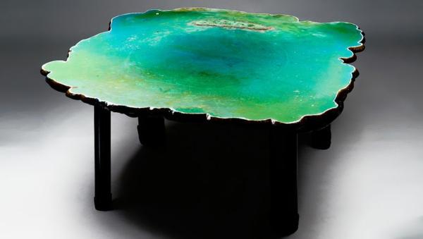 Designer Tische couchtische esstische grün effektvoll