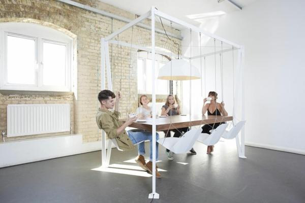Design Tische couchtische esstische schaukel weiß