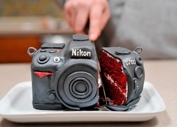 coole Torten tolle Tortendeko Tortenfiguren fotoapparat
