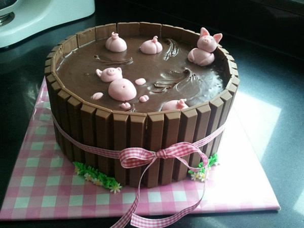 Torten tolle Tortendeko Tortenfiguren schweine