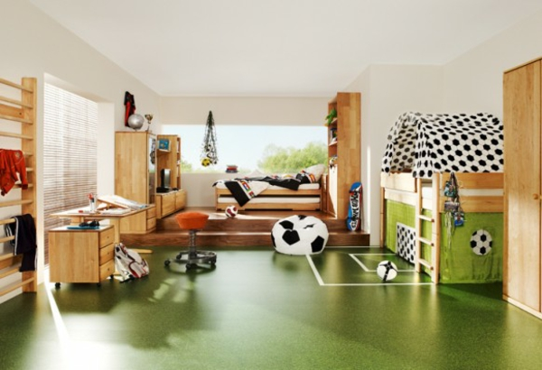 Fussball Deko fußboden Hause fußballfans team7 wohnzimmer