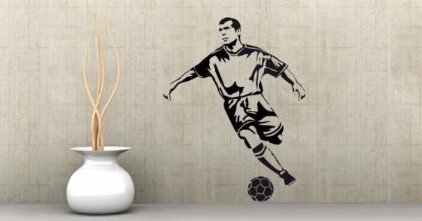 Fussball Deko zu Hause fußballfans wandtattoo sticker
