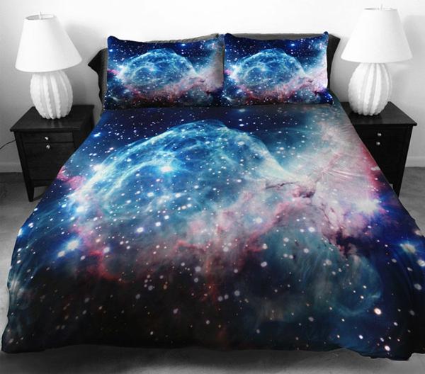 Galaxy Bettwäsche Bettlaken planeten weltall