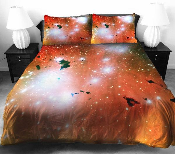 Bettwäsche und Bettlaken rot orange heimtextilien