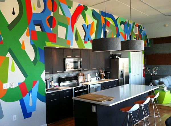 Graffiti art Wand zu Hause art küchenrückwand