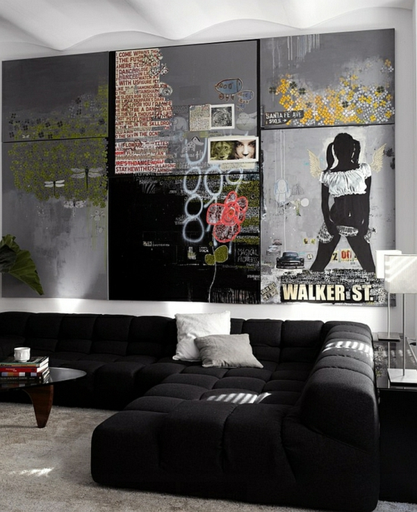 Graffiti Wand zu Hause glanz oberfläche