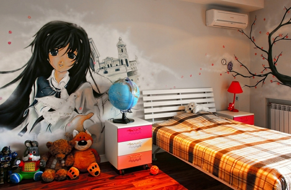 Graffiti Wand Hause jugendliche schlafzimmer