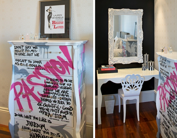 Coole graffiti wand in jedem raum zu hause Article de decoration interieur