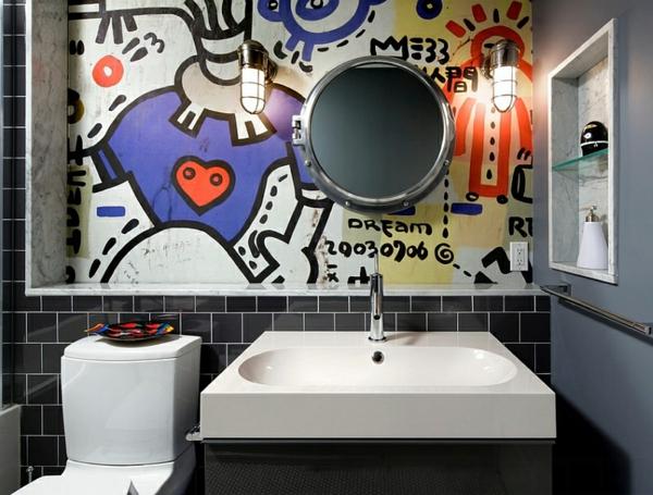 Graffiti Wand zu Hause lustige malerei