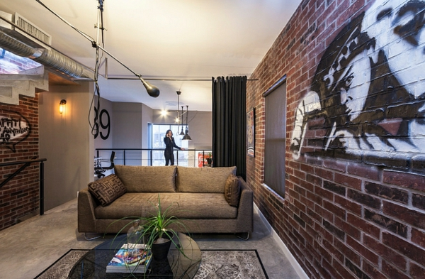 Graffiti art Wand zu Hause warm robust