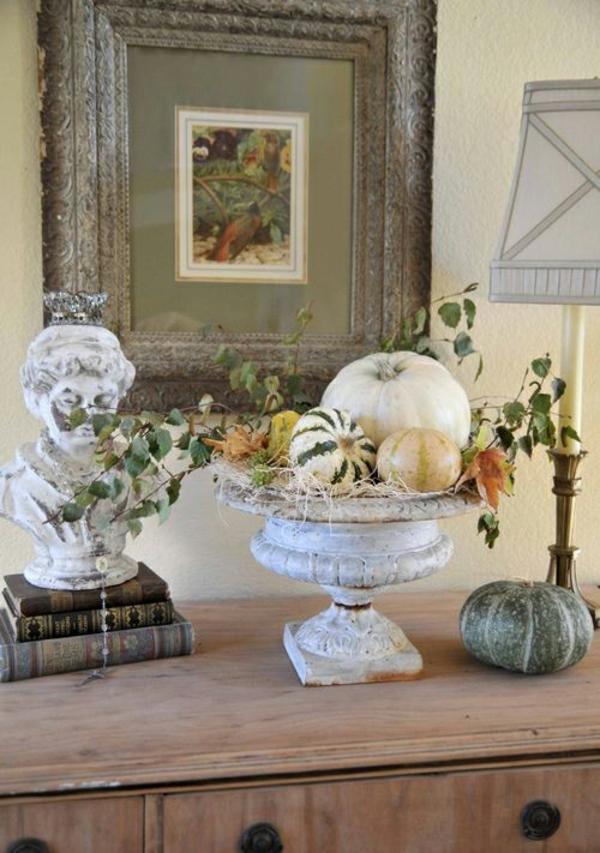 Halloween Deko basteln antike standbilder Ideen effektvoll artikel