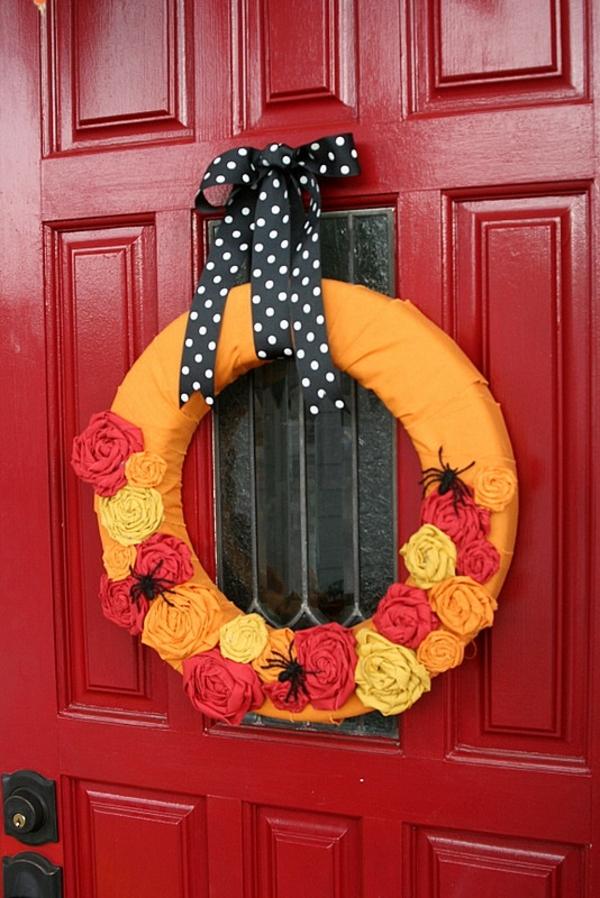 Halloween Deko türkranz farben herbst
