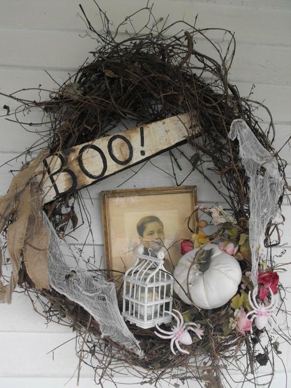 Halloween Deko boo Ideen winzig elemente