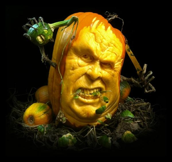 Halloween messer Kürbis schnitzen art ideen