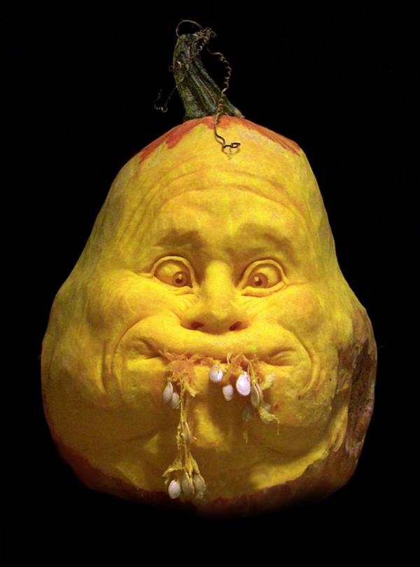 Halloween Kürbis schnitzen art lustig