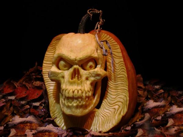 Halloween Kürbis schnitzen art monster