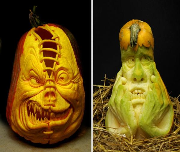 Halloween designs Kürbis schnitzen art thinker