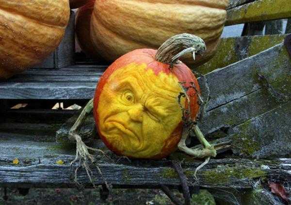 Halloween Kürbis vorlagen schnitzen art unbequem