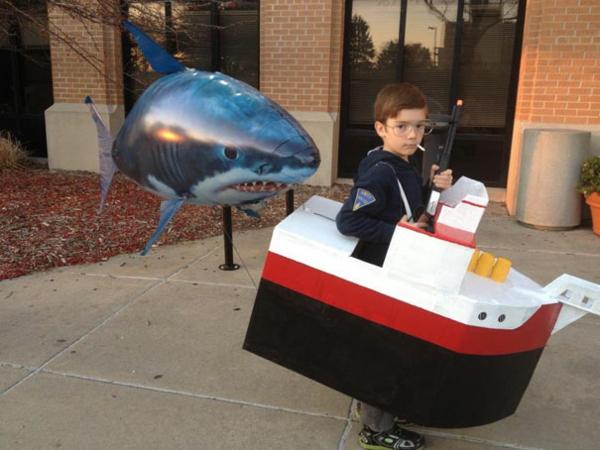 Halloween jaws Kinderkostüme designs festlich haifisch