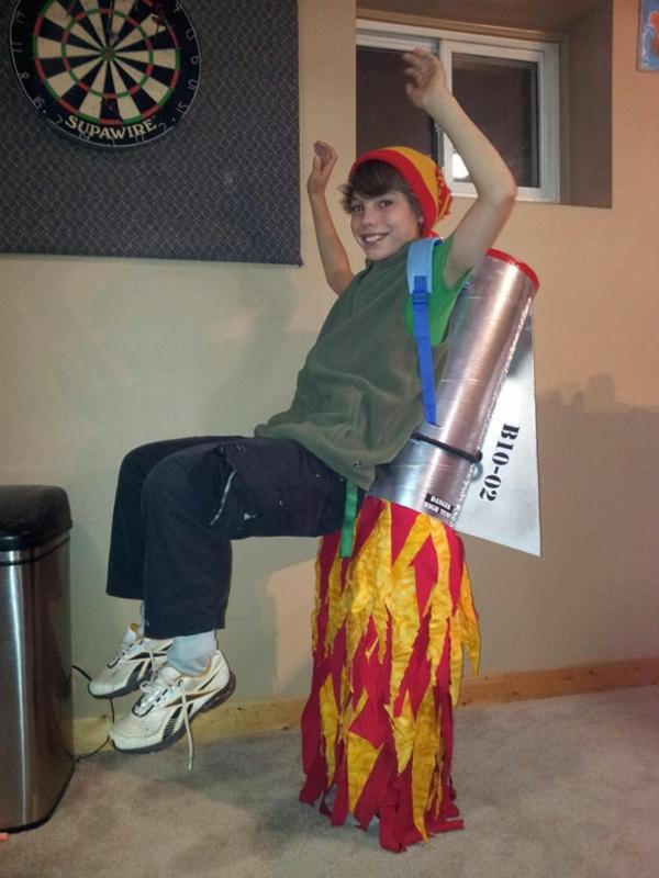 Halloween Kinder feuer kostüme designs festlich rakete