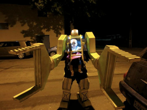 Halloween sci fi Kinderkostüme designs festlich roboter