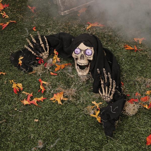 Halloween Party im Garten blätter herbst