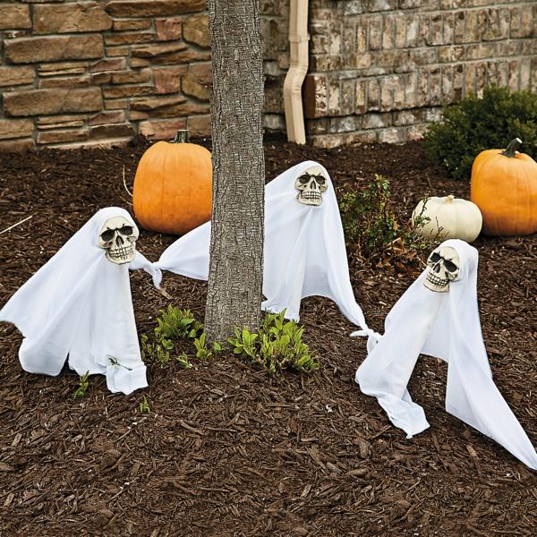Halloween bettdecken Party Deko im Garten geister kürbisse