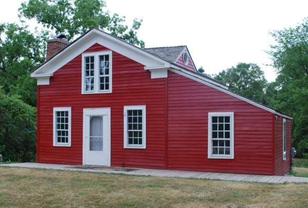 Hausanstrich Farbe rot hausfassaden farben rot weiß