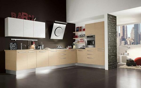 Küchenzubehör einrichtungsideen Küchengeräte wand schwarz