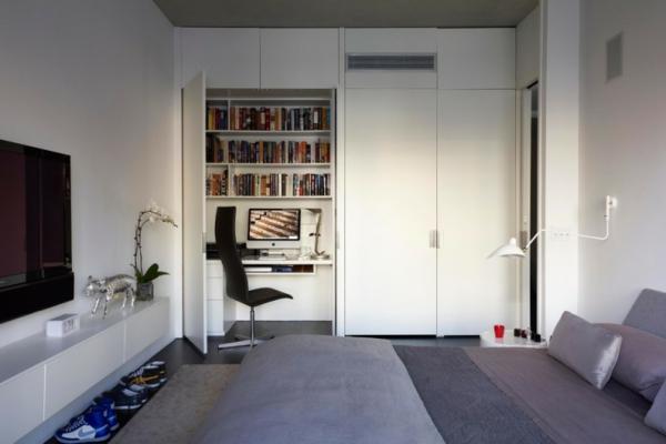 Klimaanlagen bettwäsche satin Innendesign integrieren eingebaut lampen grau