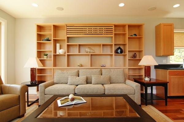 Klimaanlagen im Innendesign integrieren eingebaut lampen sofas