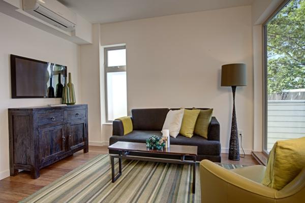 Klimaanlagen im Innendesign integrieren eingebaut lampen teppiche