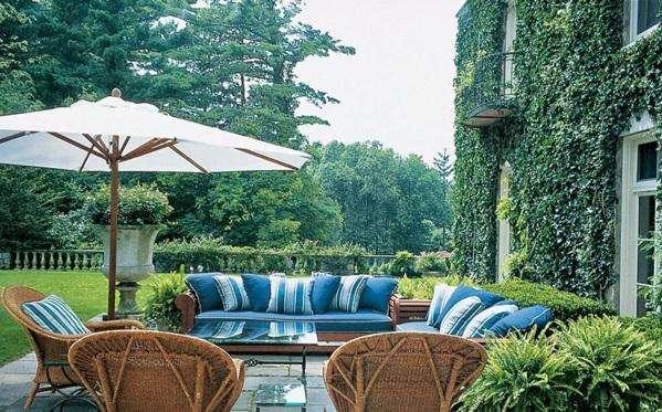 Loungemöbel im Garten sonnenschirme sonnenschutz