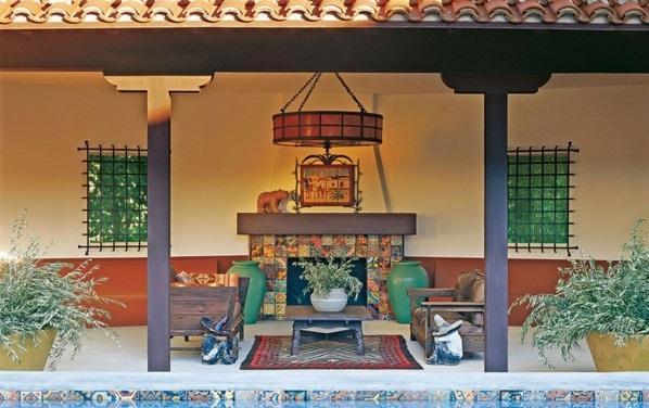 Loungemöbel im Garten veranda exotisch